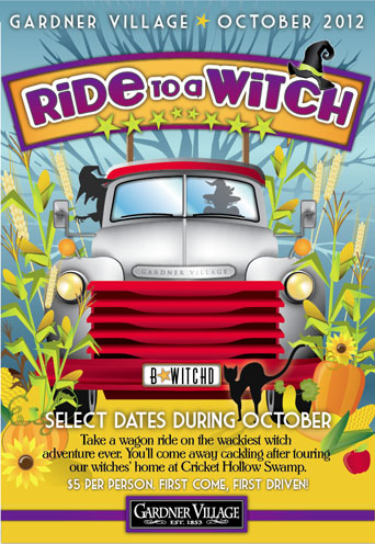 Gardner Village Ride to a Witch