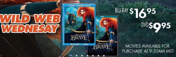 Disney's Brave DVD only $9.95 and Blu-Ray only $16.95!