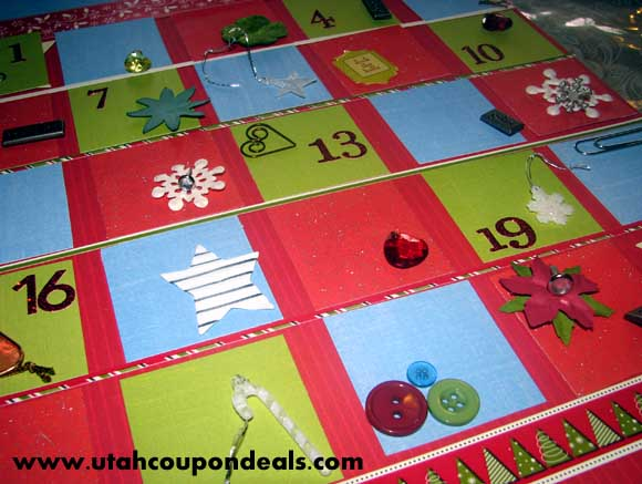 Homemade Magnetic Christmas Advent Calendar