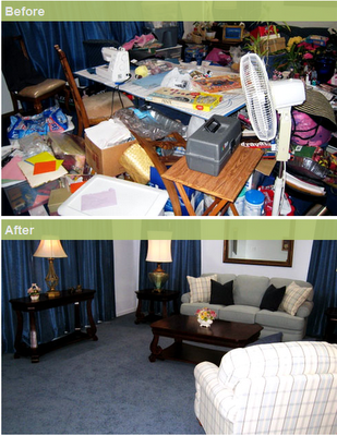3 spring cleaning tips to de clutter your living room for Pictures of clean homes