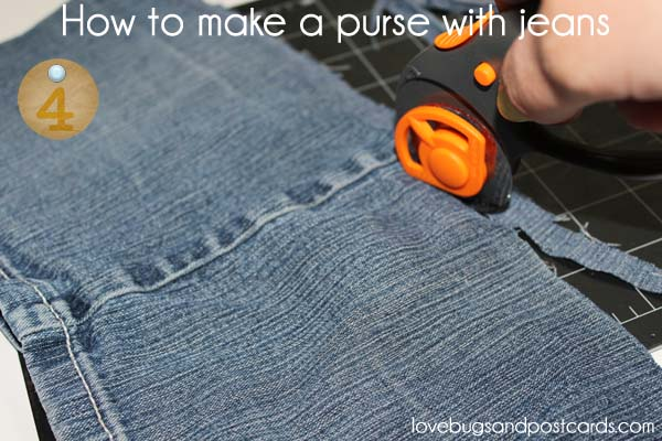 How to make a purse with jeans - step 4
