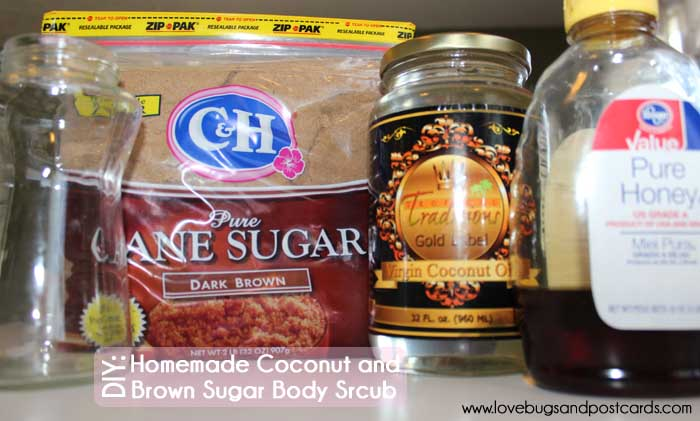 DIY: Homemade Sugar Scrub (brown sugar and coconut oil)