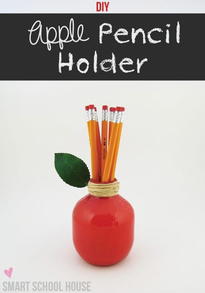 Apple Pencil Holder Teacher Appreciation Gift