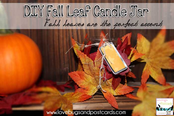 DIY: Fall Leaf Candle Jars - www.utahcoupondeals.com