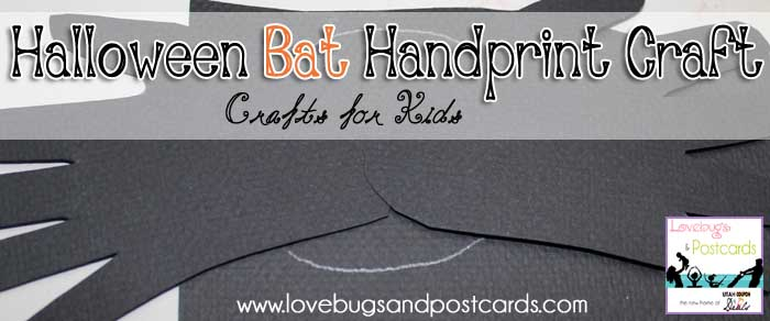 Halloween Bat Handprint Craft for Kids