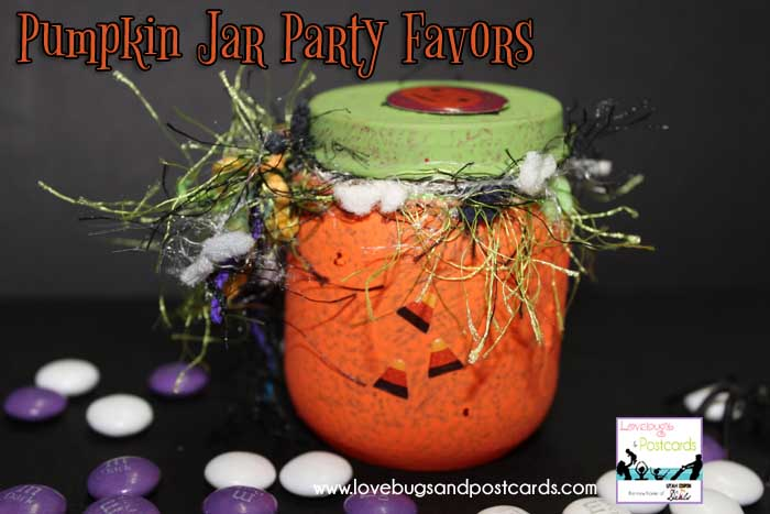 Halloween Party Favors Pumpkin Treat Jars