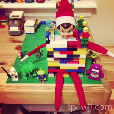 Elf on the Shelf Ideas - LEGO Toy Story Captive