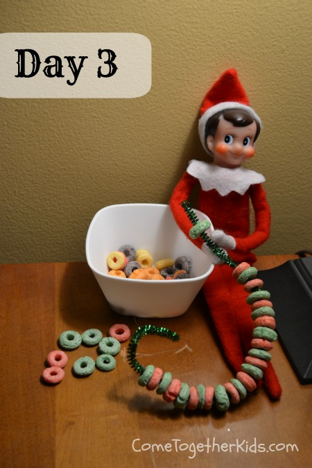 Elf on the Shelf Ideas - Fruit Loop Ornament