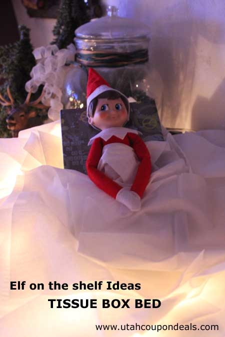 Elf on the Shelf Ideas - Tissue Box Bed