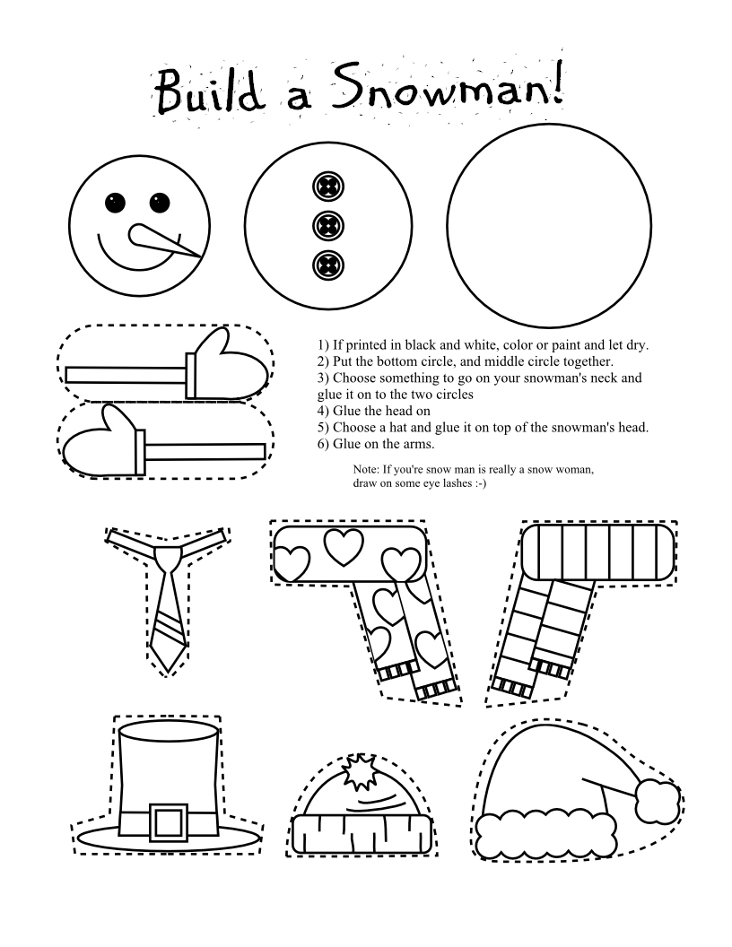 printable coloring pages christmas crafts - photo#1