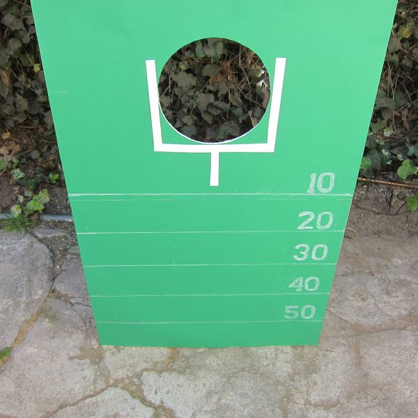 DIY Super Bowl Kids Football Toss Game