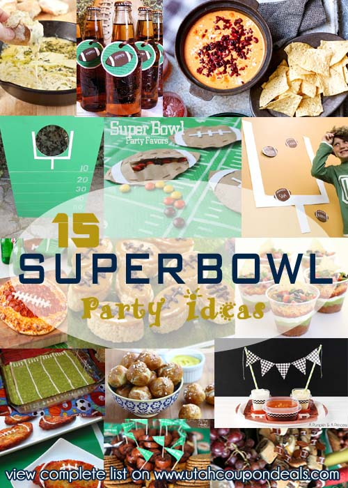 15 Super Bowl Party Ideas (food, games, drinks, decorations) | UtahCouponDeals