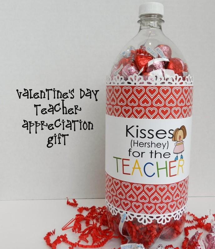 """""""Kisses for the Teacher"""" Soda Pop Bottle Teacher Gift"""