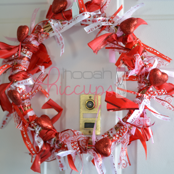 DIY Valentine's Day Wreath - 10 DIY Valentine's Day Projects