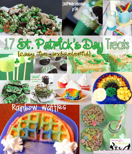 17 St. Patrick's Day Treats {easy, fun, and colorful}