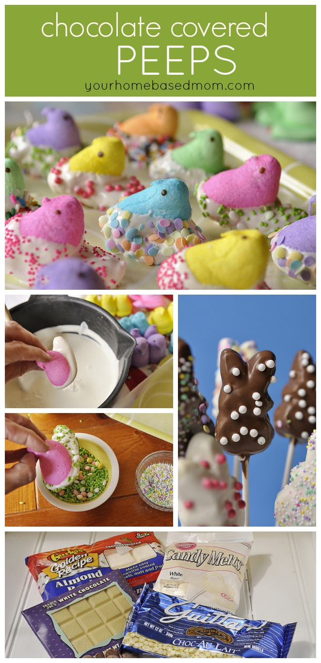 Chocolate Covered Peep Bouquet