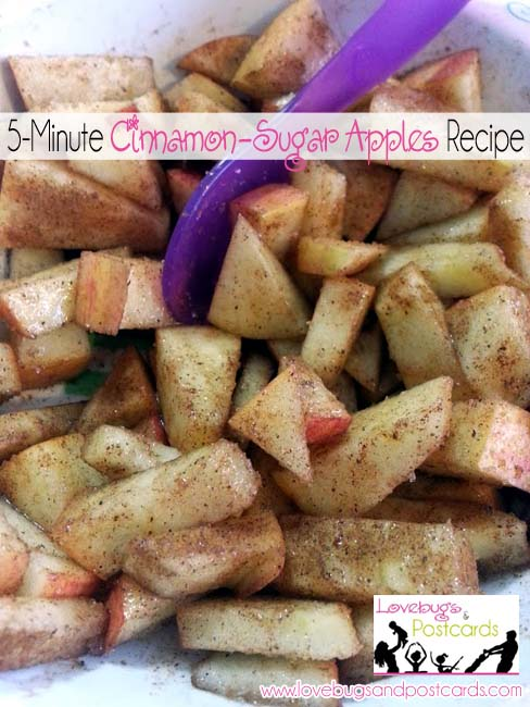 5-Minute Cinnamon Sugar Apples Recipe