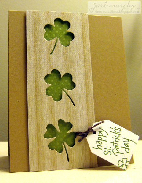 St. Patrick's Day Clover Card