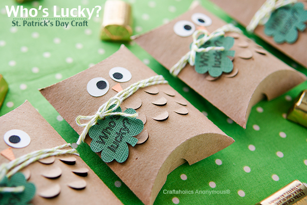 St. Patrick's Day Owl Craft {Pillow Boxes}