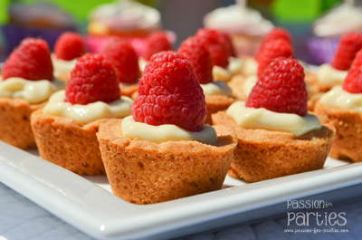 Mini Cheesecake Raspberry Tartlets