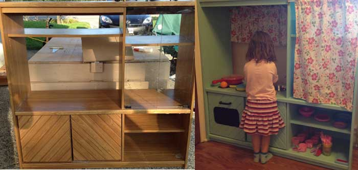 DIY Play Kitchen - Furniture Makeover