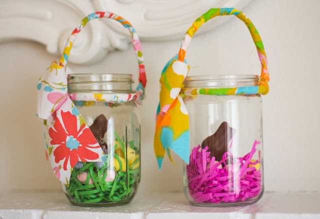 Mason Jar Easter Baskets
