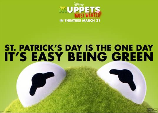 Happy St. Patrick's Day from MUPPETS MOST WANTED + Printable Activity Sheets