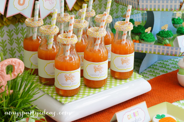 {Peach Mango} Carrot Juice Bottles