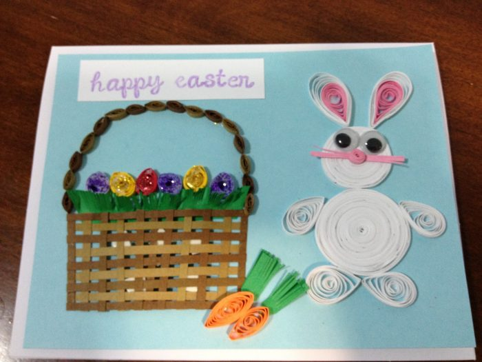 Easter Bunny Quilled Card