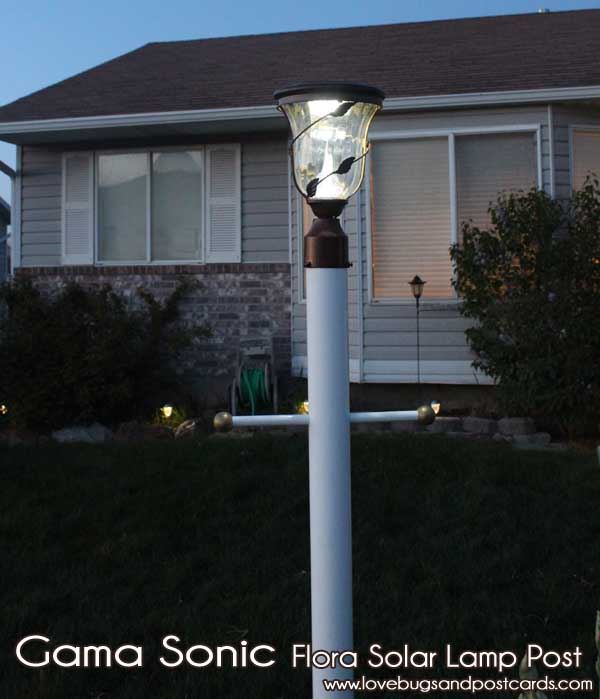 Solar Outdoor Lights Reviews : Gama Sonic Flora Solar Yard Light Review  Lovebugs and Postcards
