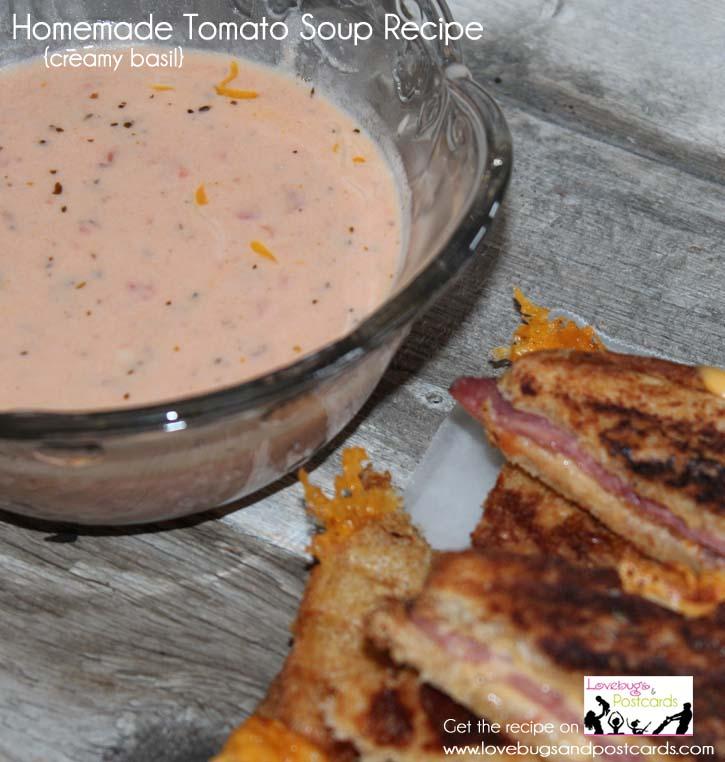 Homemade Tomato Soup Recipe {creamy basil}
