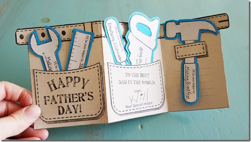 Tool Belt Father's Day Card