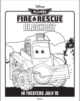 Planes: Fire and Rescue Coloring Pages - Blackout