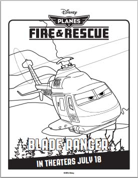 Planes: Fire and Rescue Coloring Pages - Blade Ranger