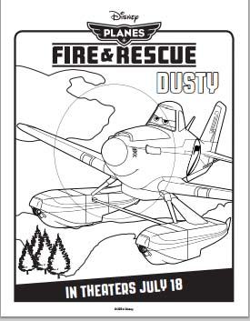 Planes: Fire and Rescue Coloring Pages - Dusty