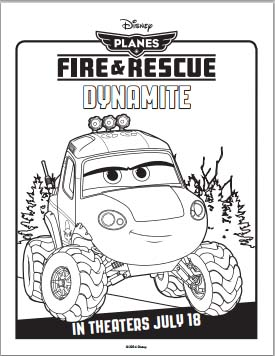 Planes: Fire and Rescue Coloring Pages - Dynamite