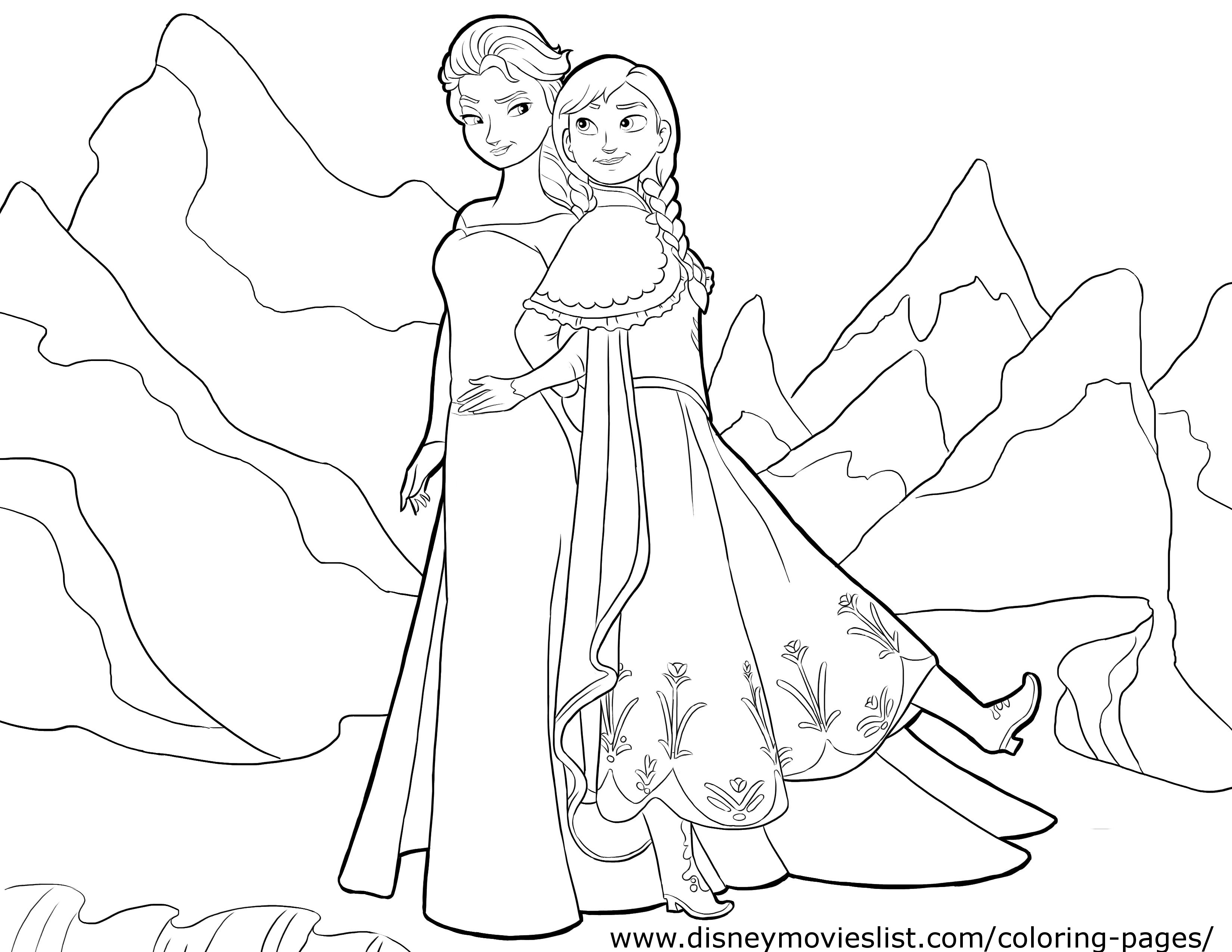 Elsa Coloring Pages For Birthdays Coloring Pages