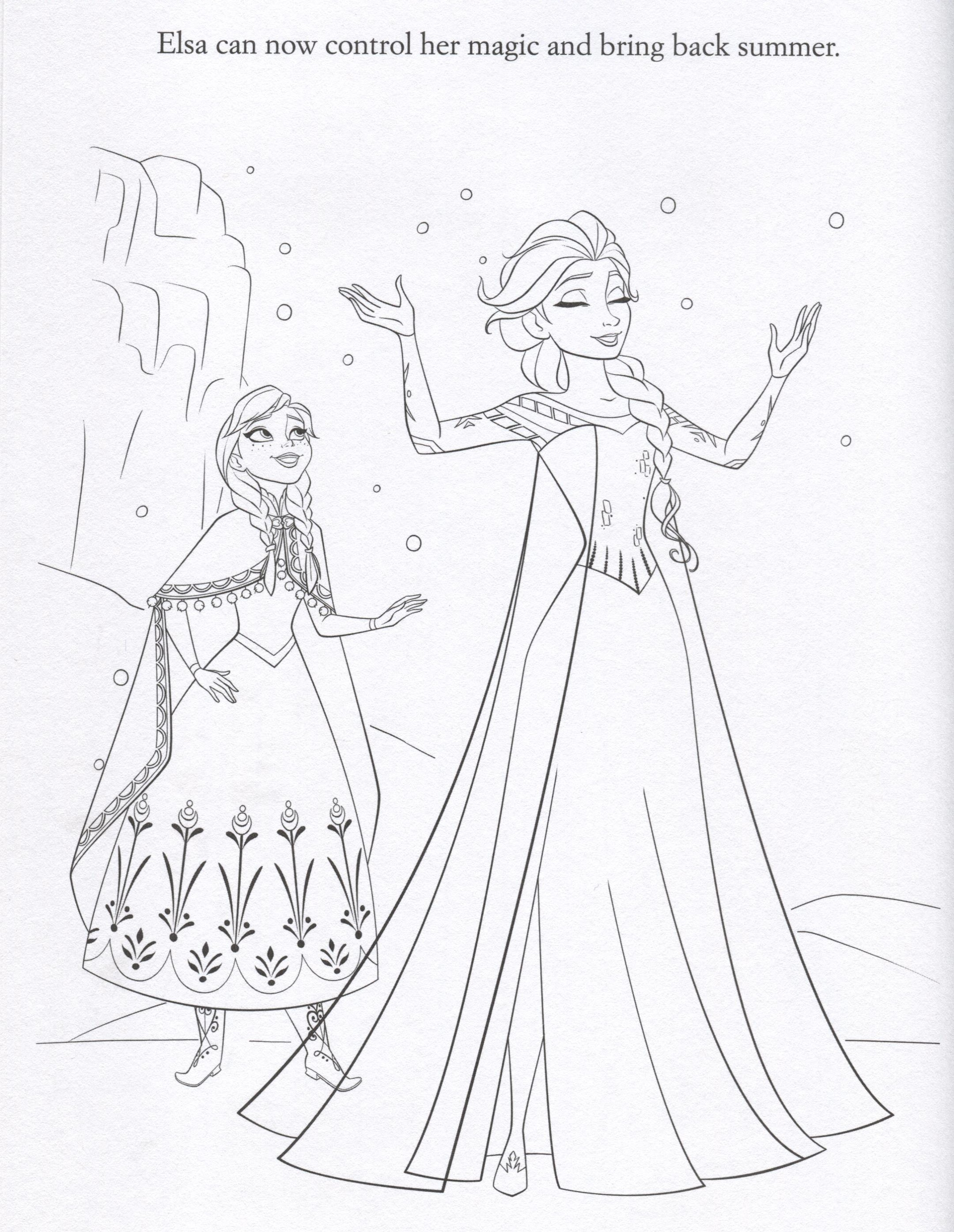 Coloring Pages Of Disney Frozen : Disney frozen coloring pages lovebugs and postcards