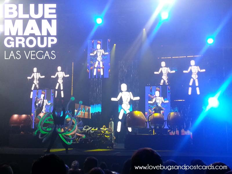 Blue Man Group Las Vegas Review - Lovebugs and Postcards