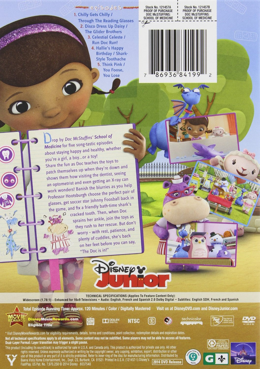 Doc McStuffins: School of Medicine DVD - Lovebugs and Postcards