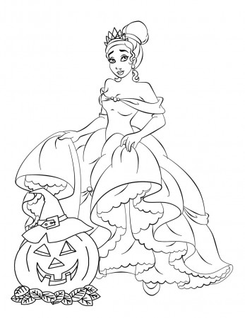 Disney Princess - Free Disney Halloween Coloring Pages