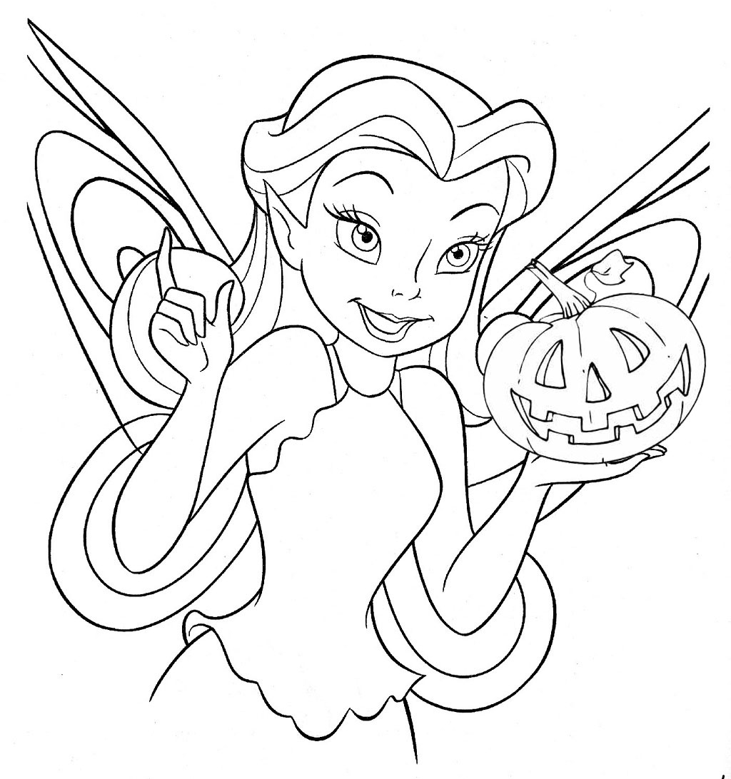 Free disney halloween coloring pages lovebugs and postcards for Free online coloring pages disney