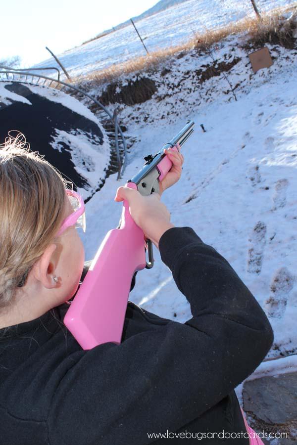 My daughters first time shooting a gun #ItsADaisy