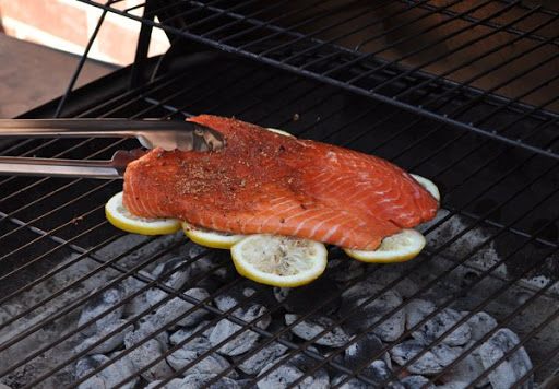Grill fish on a bed of lemons to prevent sticking