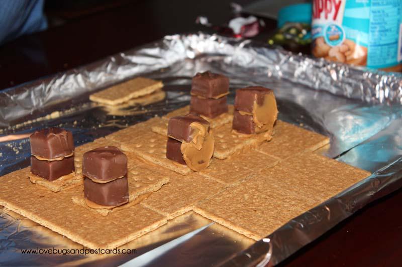 Peanut Butter and Graham Cracker Houses