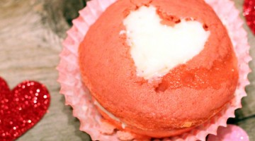 Valentine Cupcakes Recipe (2 ingredients)
