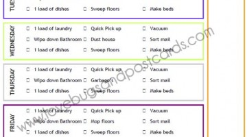 Weekly Cleaning Checklist Printable