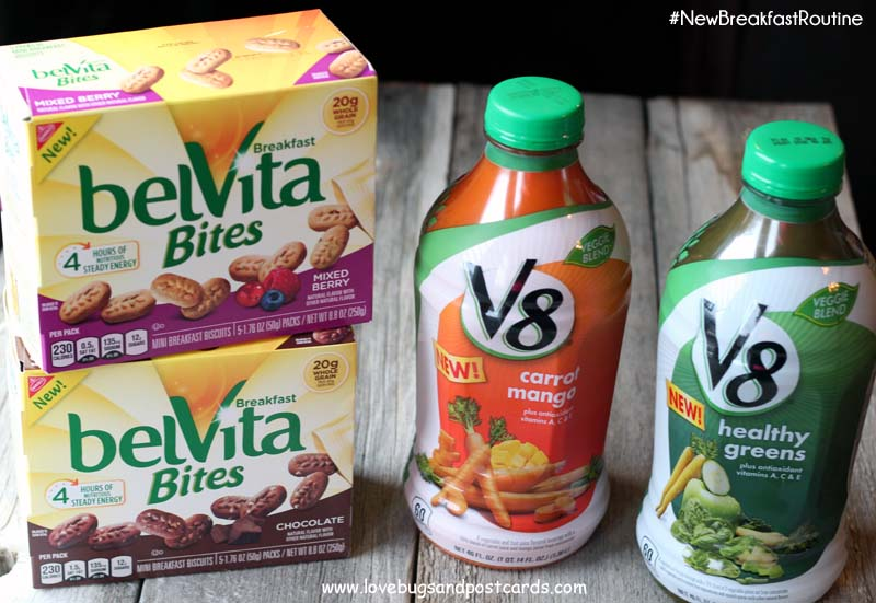 BelVita Bites – Mini Breakfast Biscuits and V8 Veggie Blends