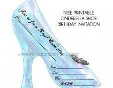 Cinderella Birthday Invitation Shoe