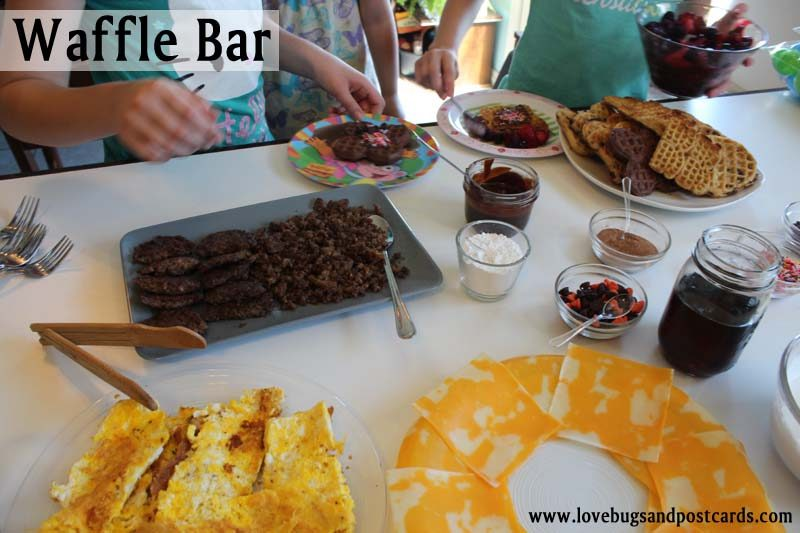 Waffle Bar Breakfast